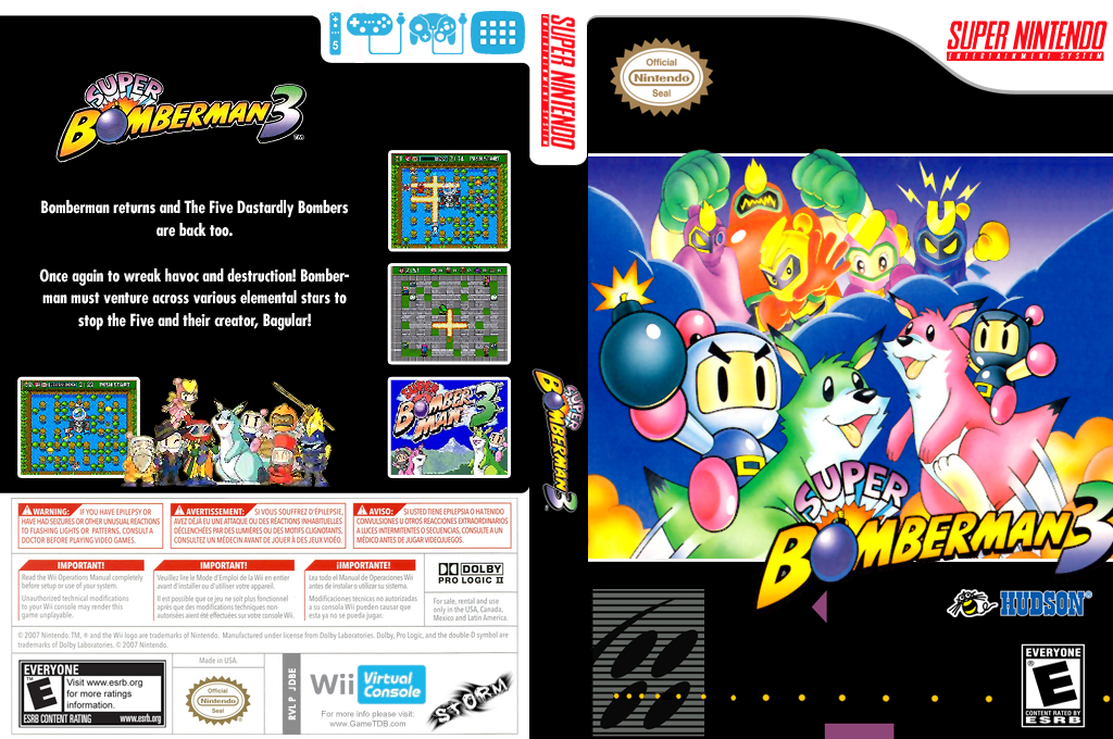 Super Bomberman 3 Wii coverfullHQ (JDBE)