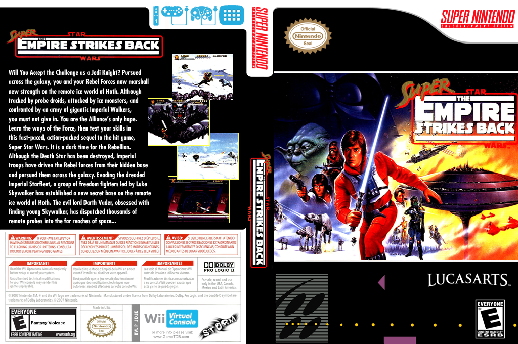 Super Star Wars: The Empire Strikes Back Wii coverfullHQ (JDJE)