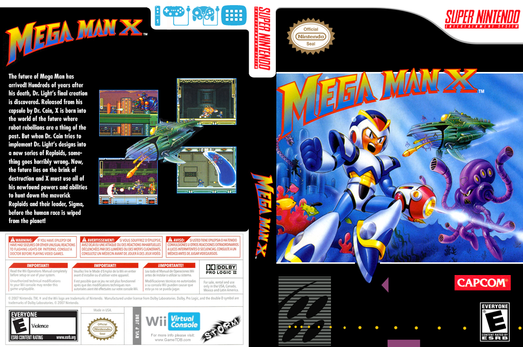 Mega Man X Wii coverfullHQ (JEBE)