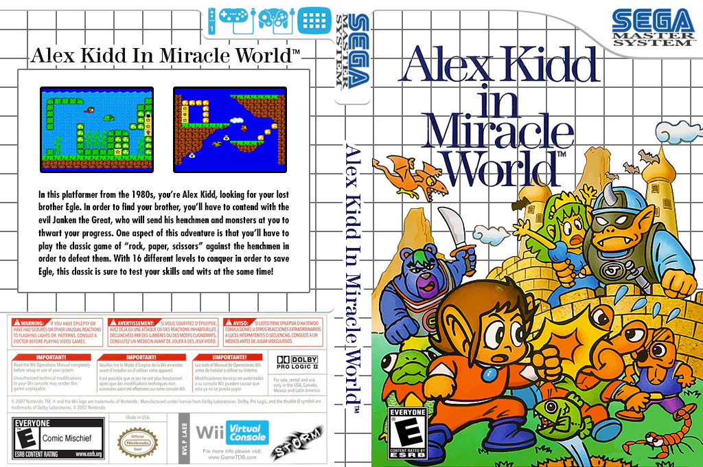 Alex Kidd in Miracle World Wii coverfullHQ (LAEE)