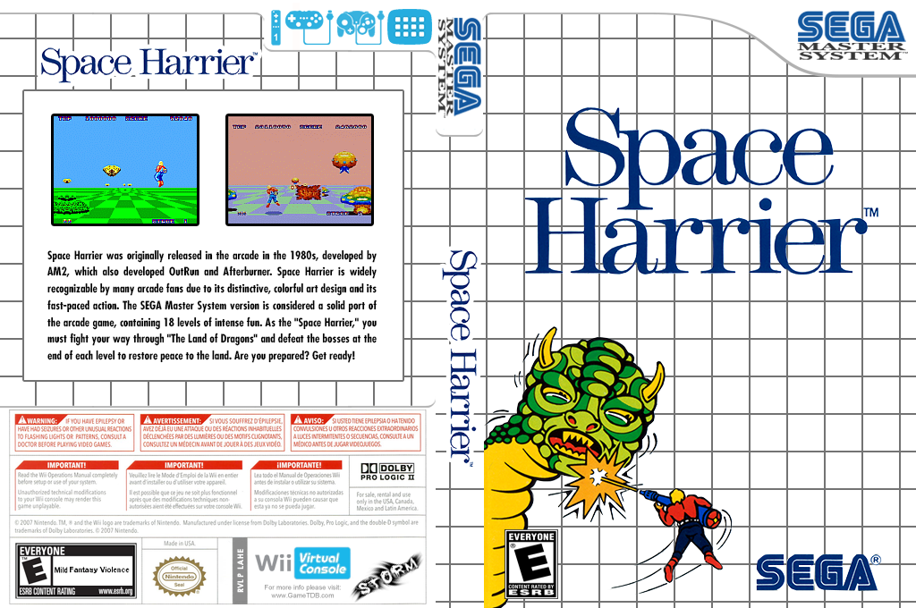 Space Harrier Wii coverfullHQ (LAHE)