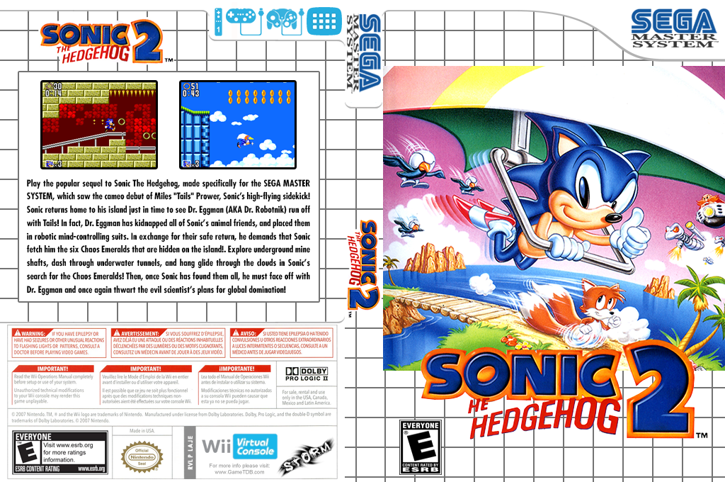 Sonic the Hedgehog 2 Wii coverfullHQ (LAJE)