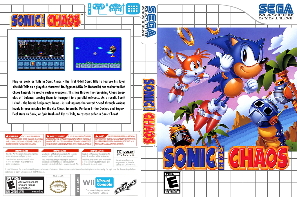 Sonic Chaos Wii coverfullHQ (LAME)
