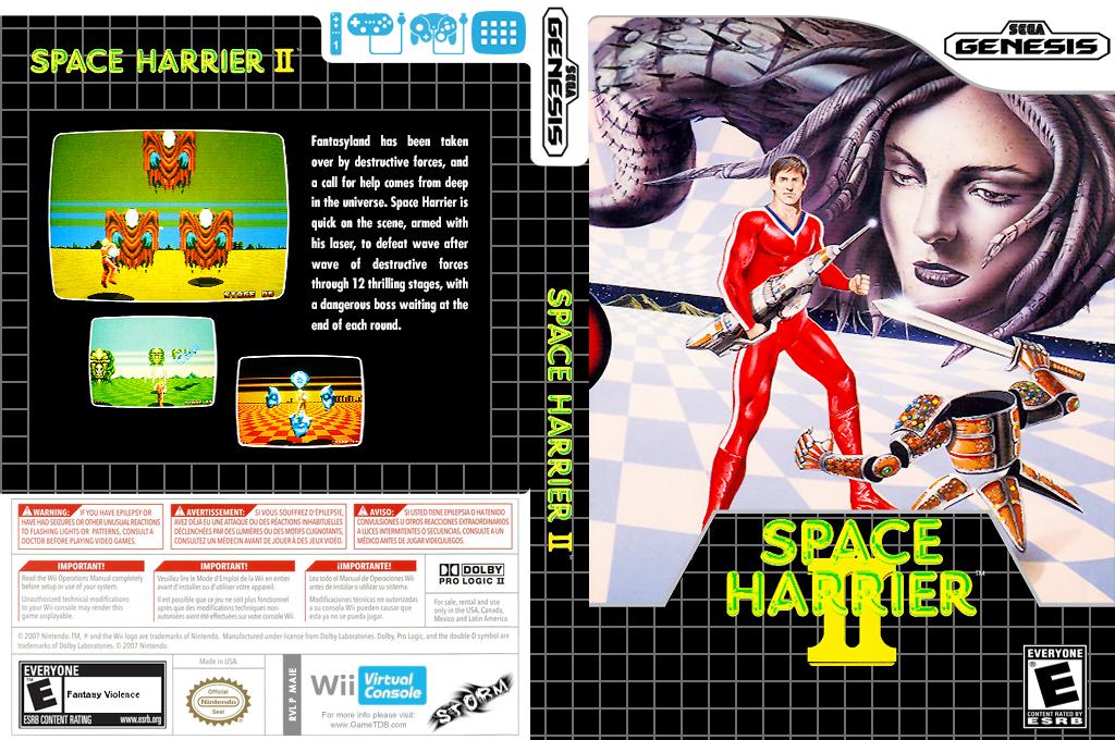 Space Harrier II Wii coverfullHQ (MAIE)