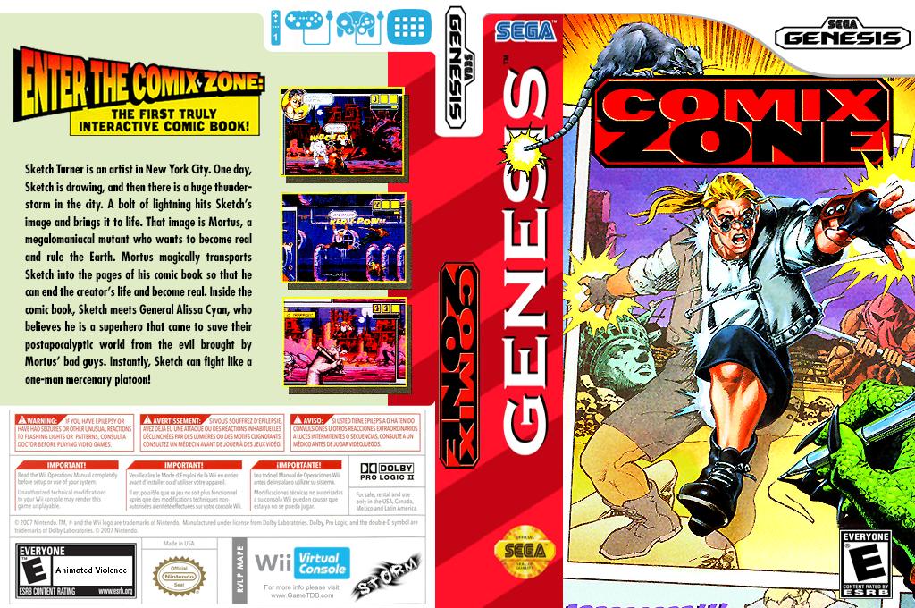 Comix Zone Wii coverfullHQ (MAPE)