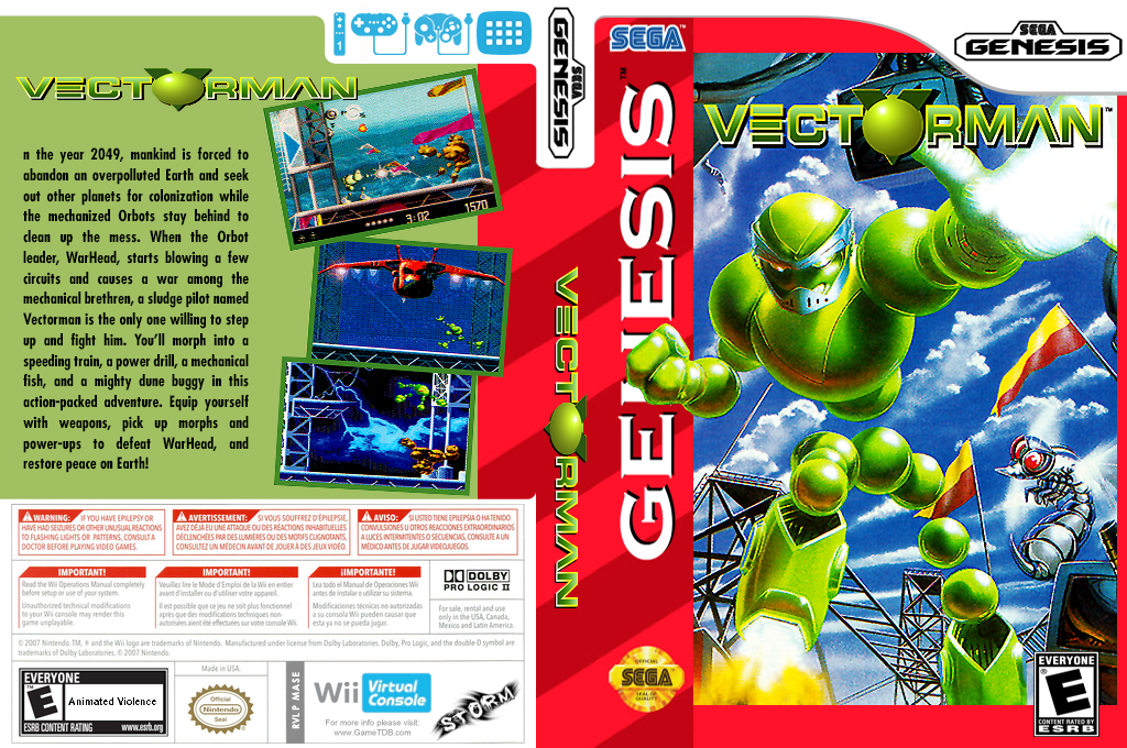 Vectorman Wii coverfullHQ (MASE)