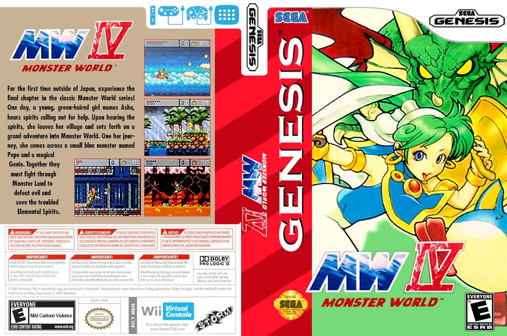 Monster World IV Wii coverfullHQ (MB3E)