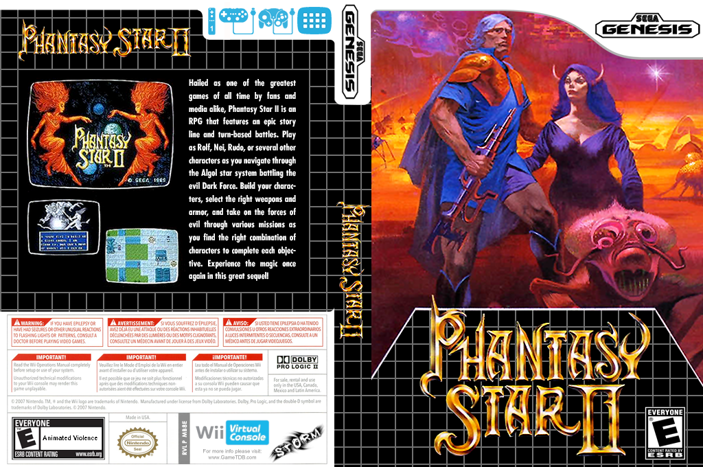 Phantasy Star II Wii coverfullHQ (MB8E)