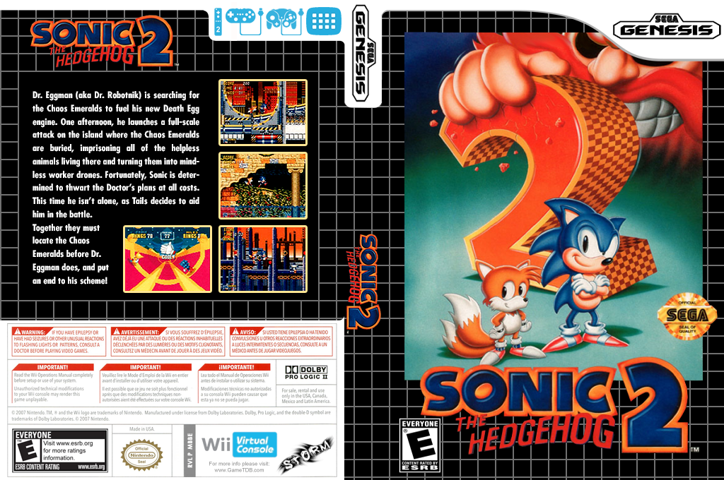 Sonic the Hedgehog 2 Wii coverfullHQ (MBBE)