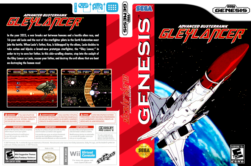 Gley Lancer Wii coverfullHQ (MCAN)