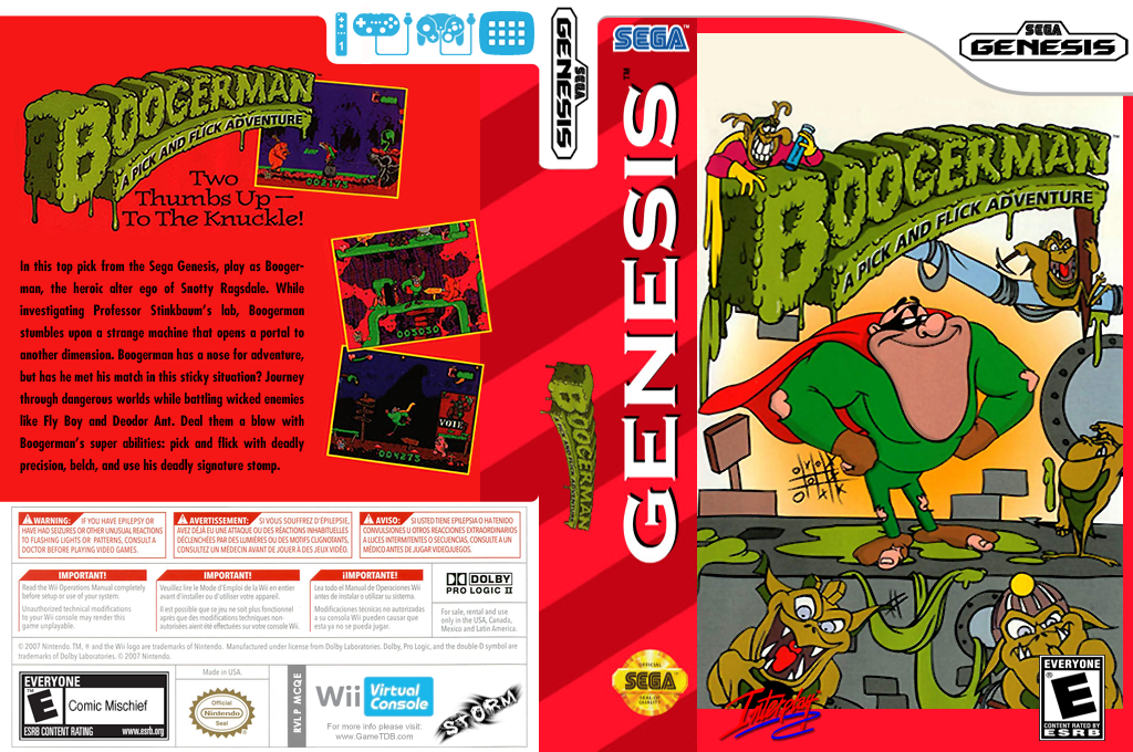 Boogerman: A Pick and Flick Adventure Wii coverfullHQ (MCQE)