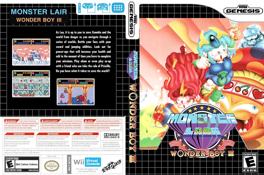 Wonder Boy III: Monster Lair Wii coverfullHQ (MCSN)