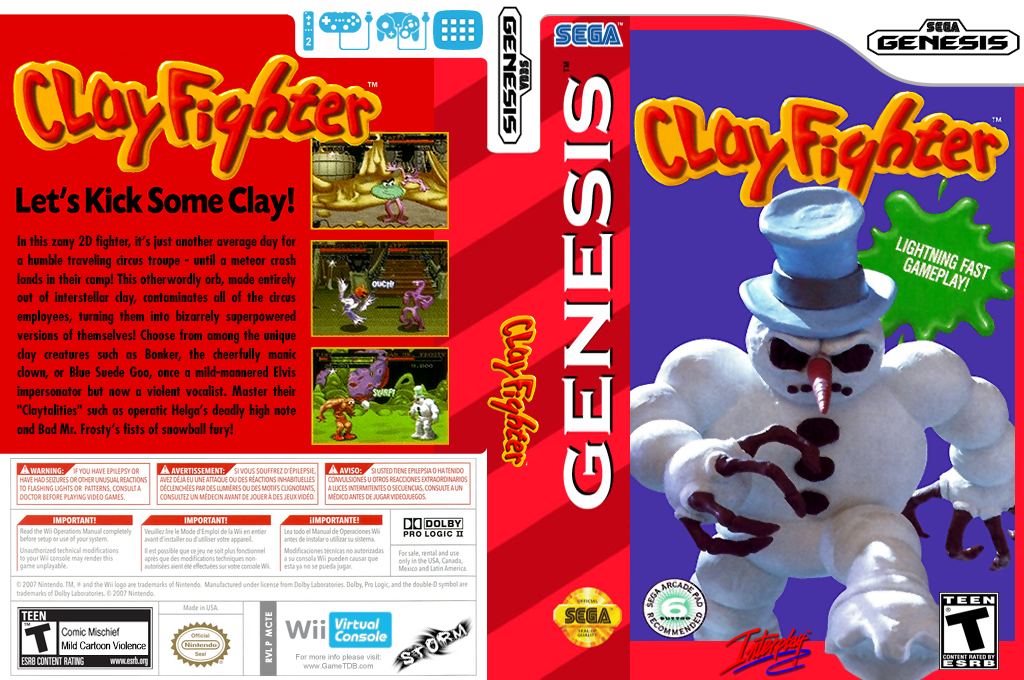 Clay Fighter Wii coverfullHQ (MCTE)