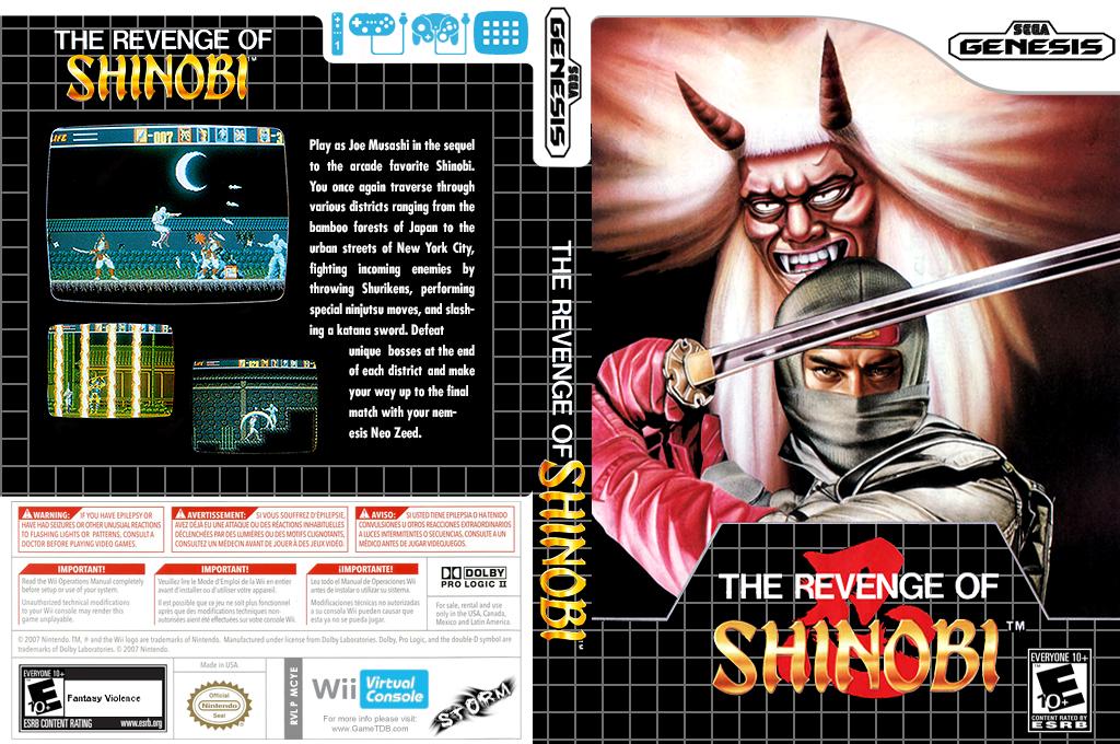 The Revenge of Shinobi Wii coverfullHQ (MCYE)