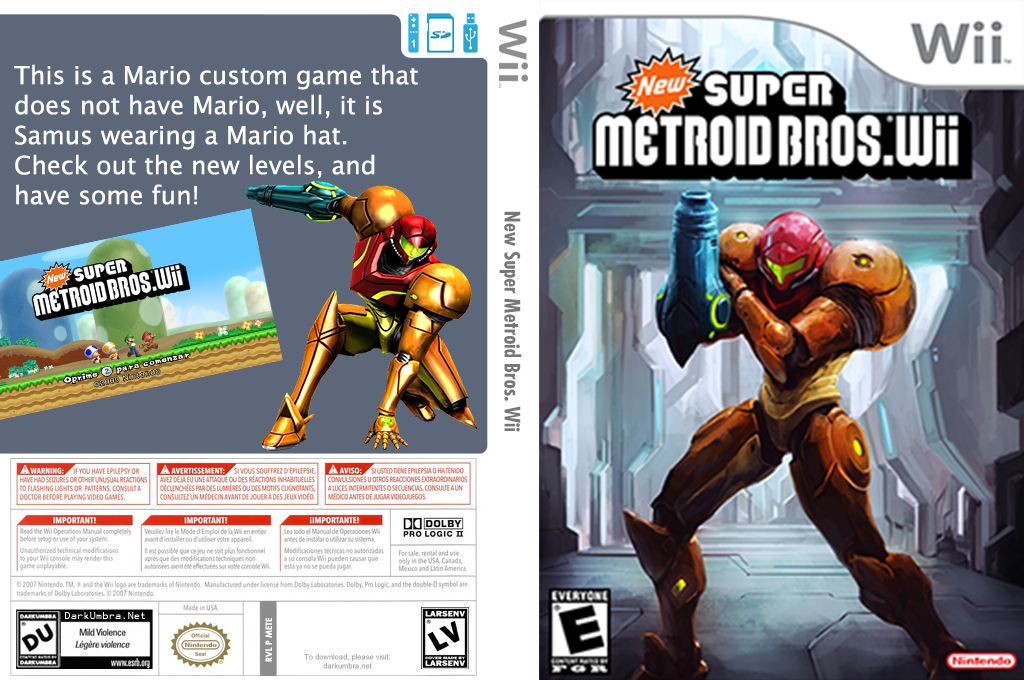 New Super Metroid Bros. Wii Wii coverfullHQ (METE01)