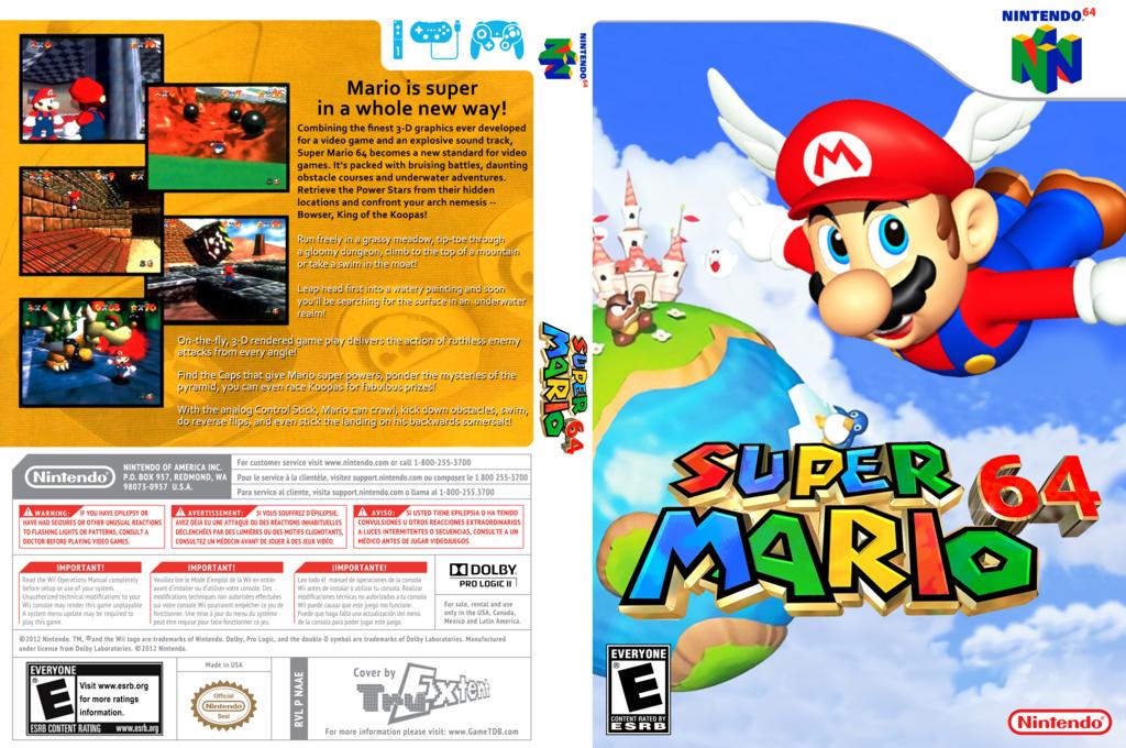 Super Mario 64 Wii coverfullHQ (NAAE)