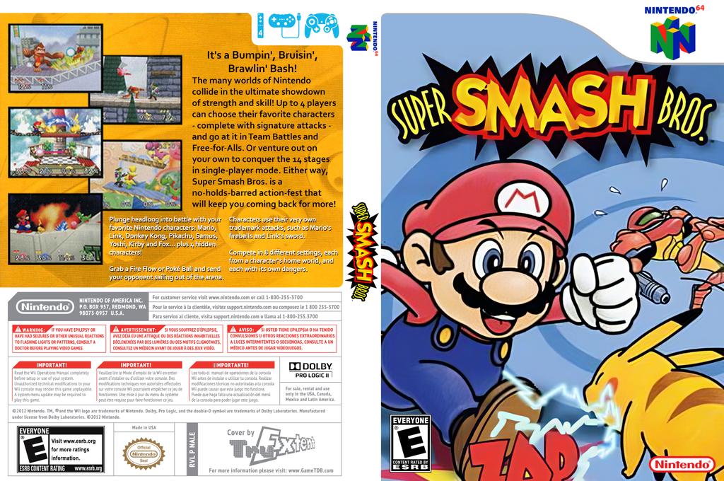 Super Smash Bros. Wii coverfullHQ (NALE)