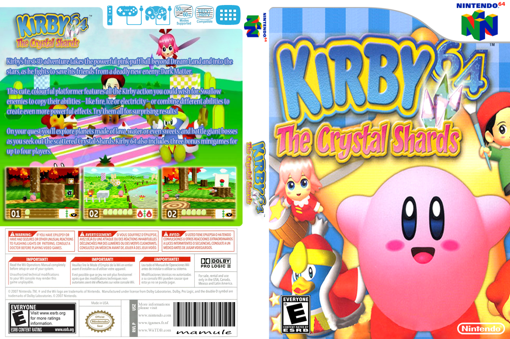 Kirby 64: The Crystal Shards Array coverfullHQ (NAME)