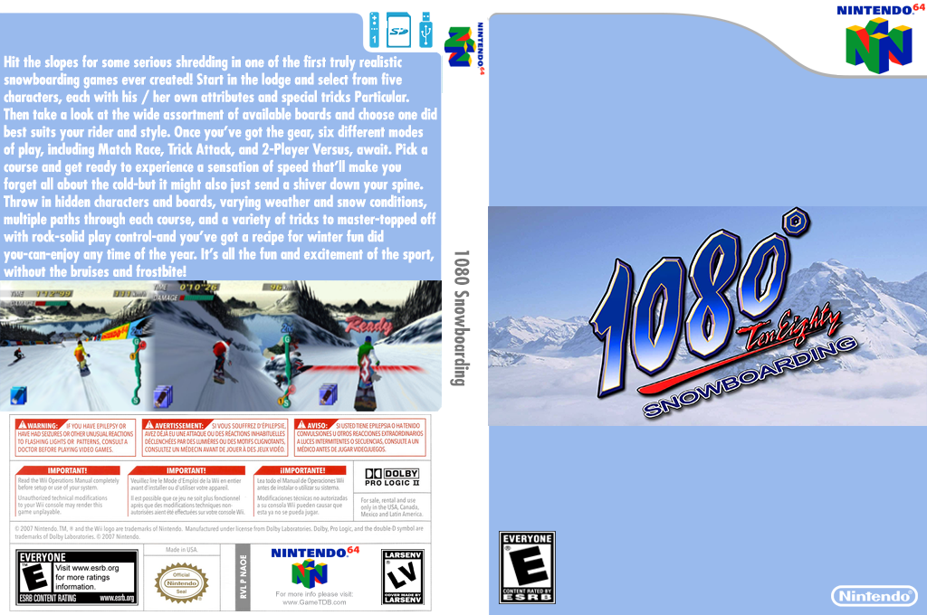 1080° Snowboarding Wii coverfullHQ (NAOE)