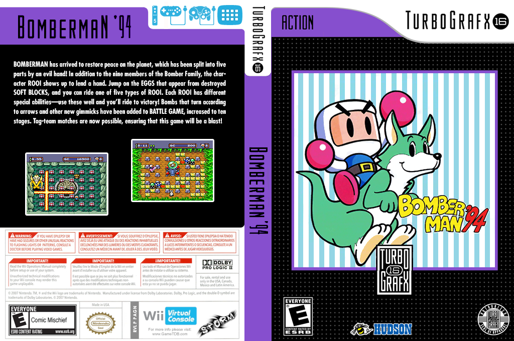 Bomberman '94 Wii coverfullHQ (PAGN)