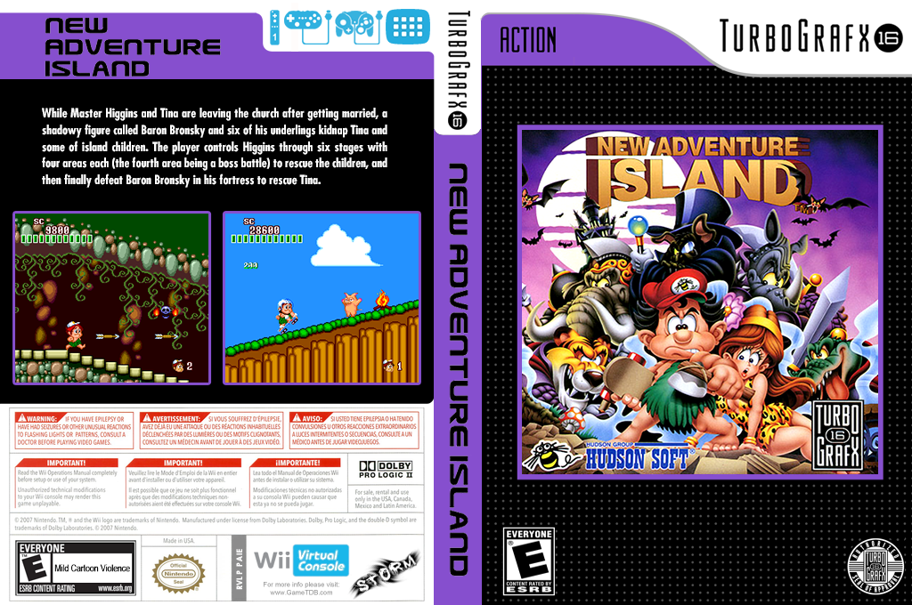 New Adventure Island Wii coverfullHQ (PAIE)