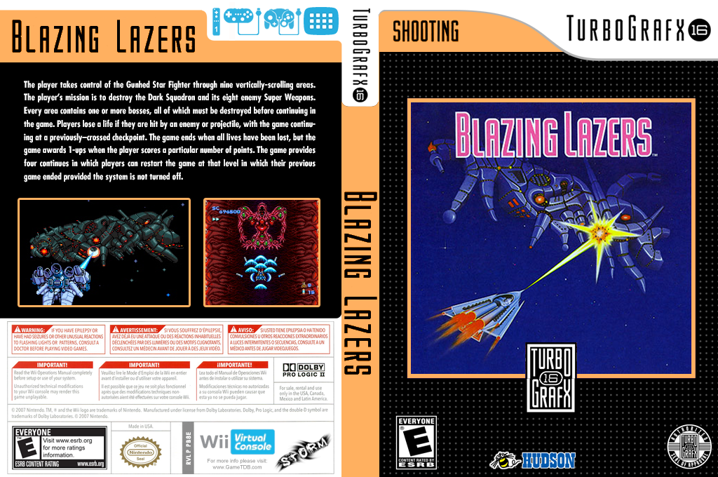 Blazing Lazers Wii coverfullHQ (PB8E)