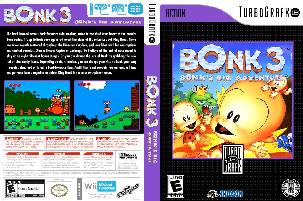 Bonk 3: Bonk's Big Adventure Wii coverfullHQ (PBIE)