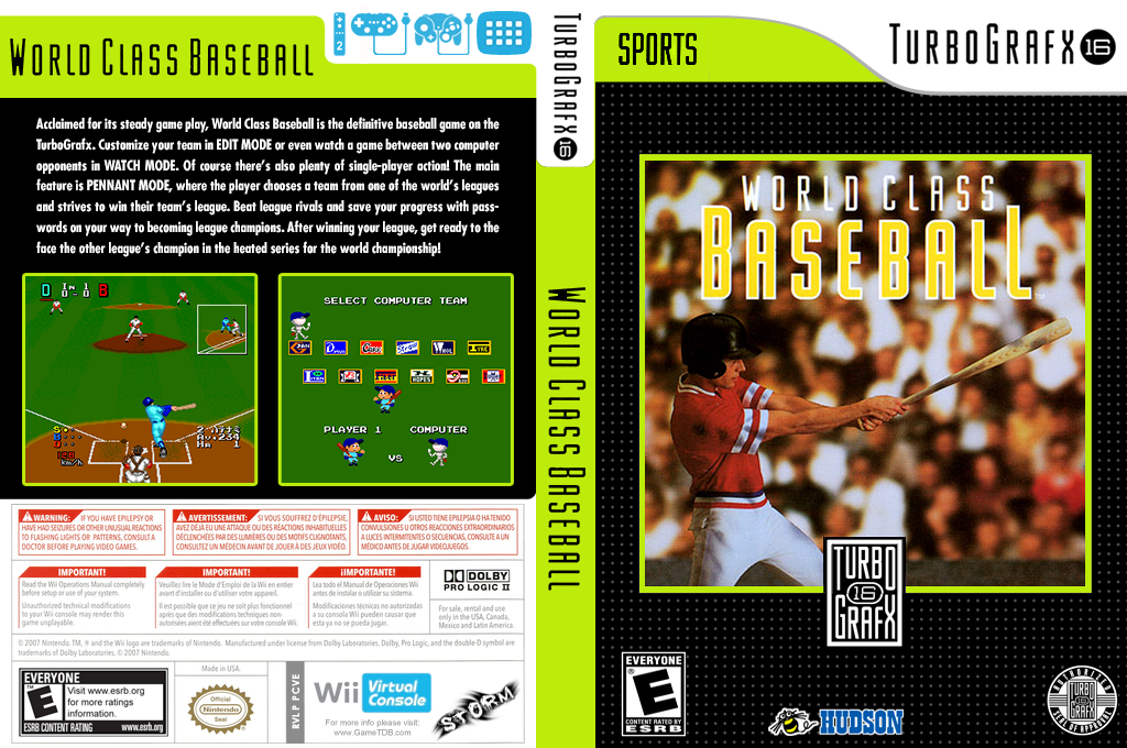 World Class Baseball Wii coverfullHQ (PCVE)