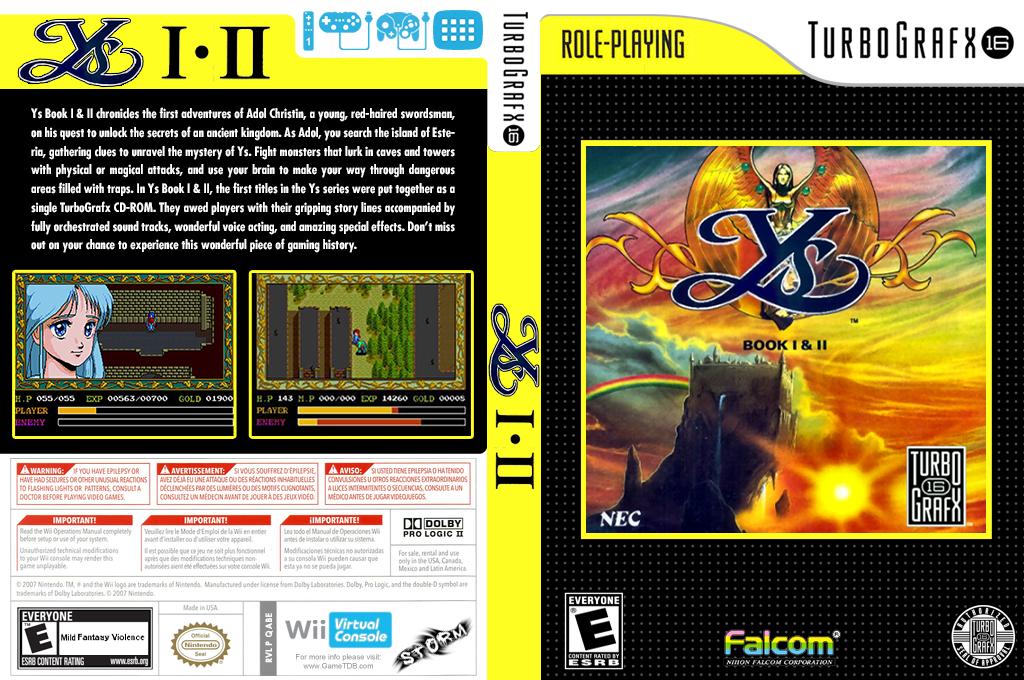Ys Book I & II Wii coverfullHQ (QABE)