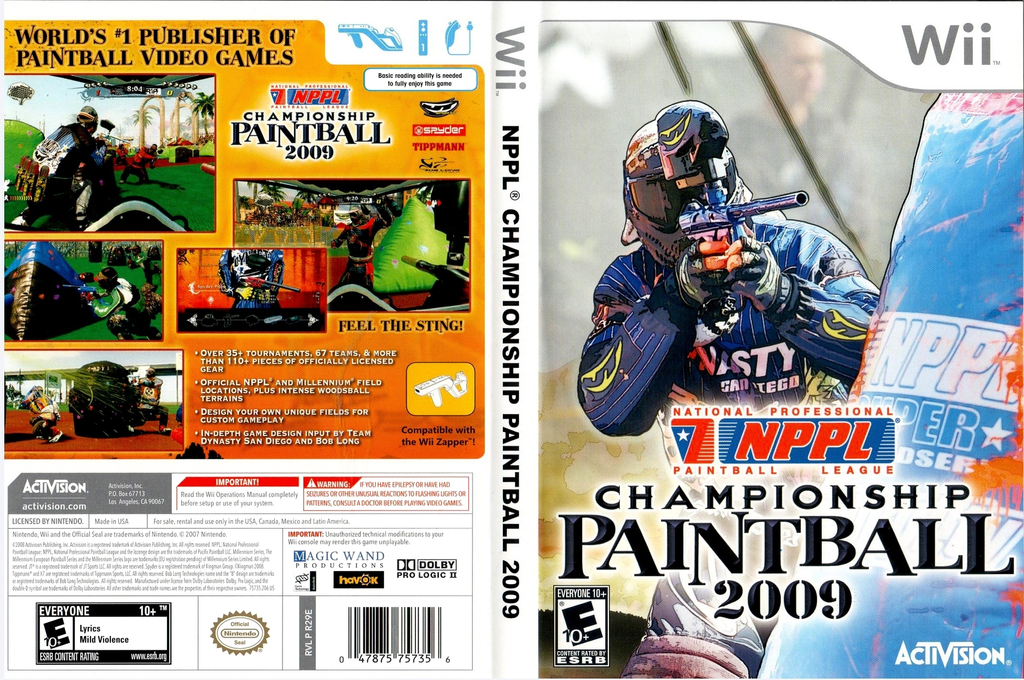 NPPL Championship Paintball 2009 Wii coverfullHQ (R29E52)