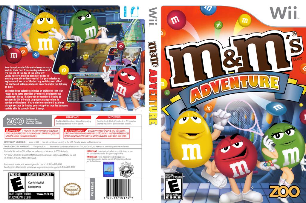 M&M's Adventure Wii coverfullHQ (R2ME20)