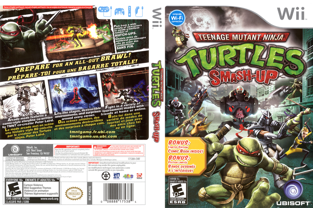 Teenage Mutant Ninja Turtles: Smash-Up Wii coverfullHQ (R2TE41)