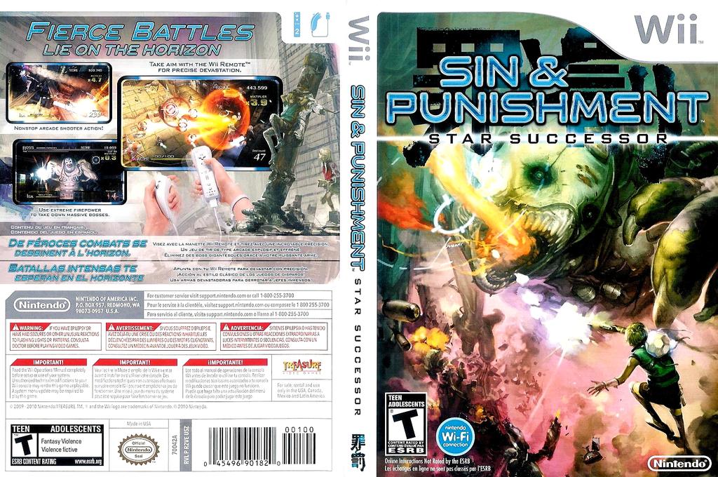 Sin & Punishment: Star Successor Wii coverfullHQ (R2VE01)
