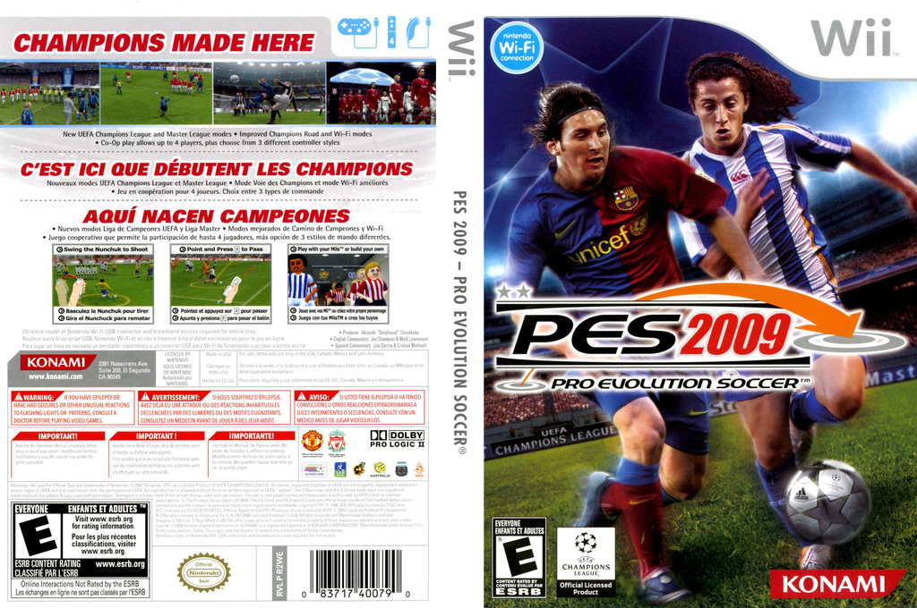 Pro Evolution Soccer 2009 Wii coverfullHQ (R2WEA4)