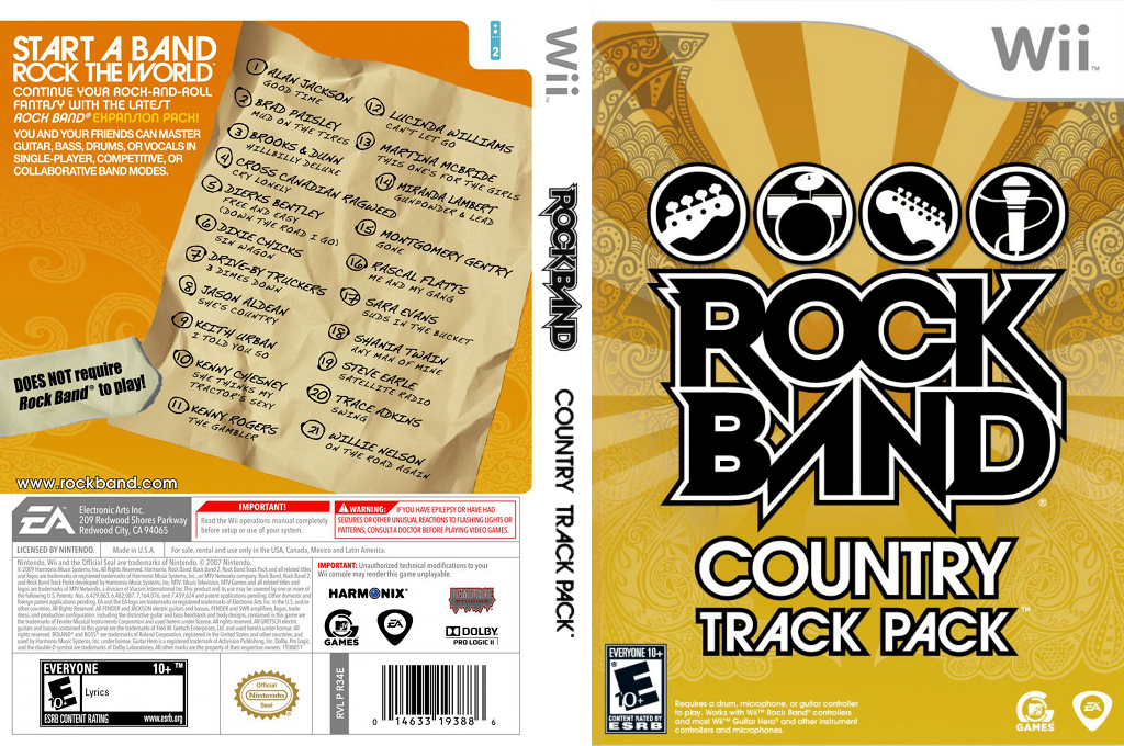 Rock Band: Country Track Pack Wii coverfullHQ (R34E69)