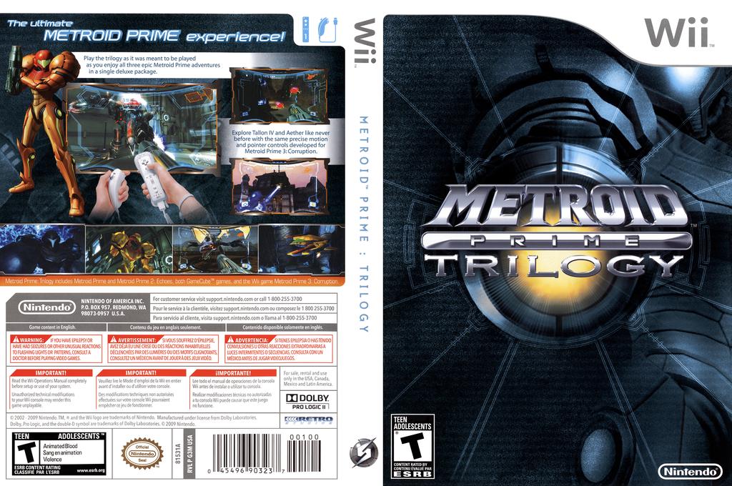 Metroid Prime: Trilogy Array coverfullHQ (R3ME01)