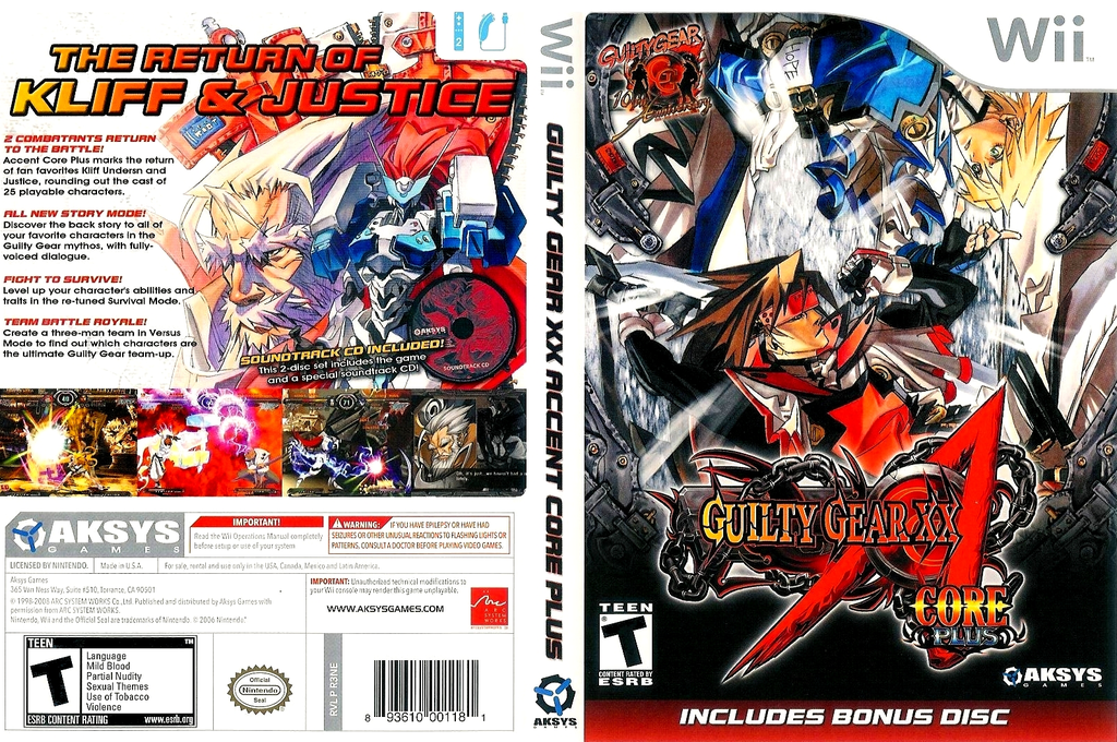 Guilty Gear XX Accent Core Plus Wii coverfullHQ (R3NEXS)