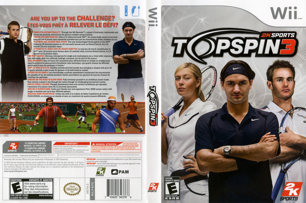 Top Spin 3 Wii coverfullHQ (R3TE54)