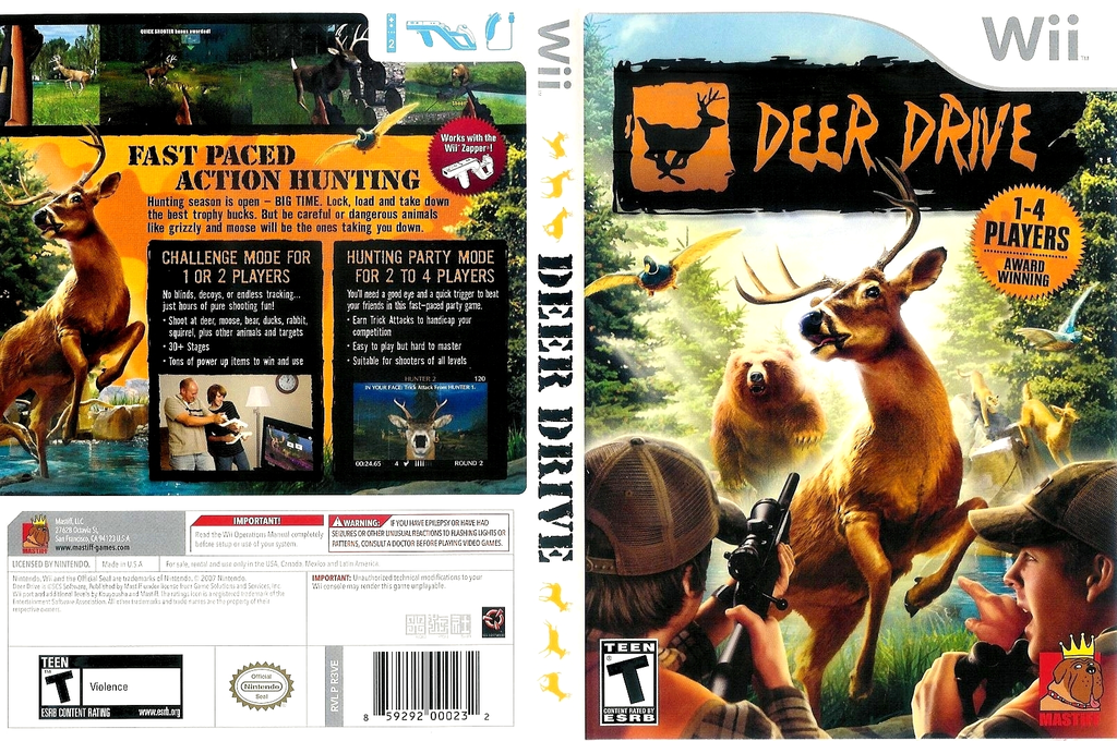 Deer Drive Wii coverfullHQ (R3VEFP)