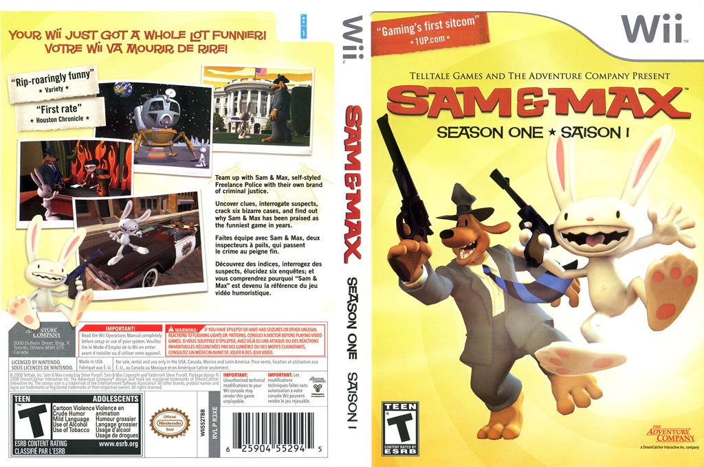Sam & Max: Season One Wii coverfullHQ (R3XE6U)