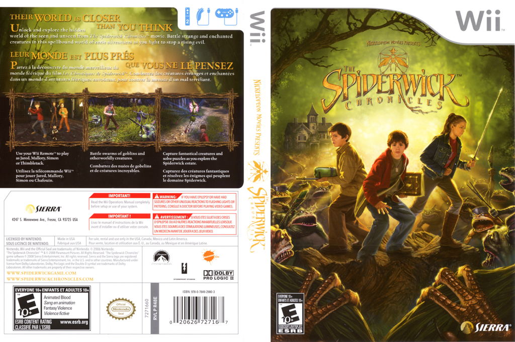 The Spiderwick Chronicles Wii coverfullHQ (R48E7D)
