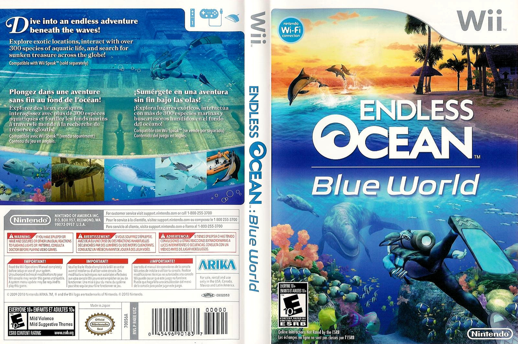 Endless Ocean: Blue World Wii coverfullHQ (R4EE01)
