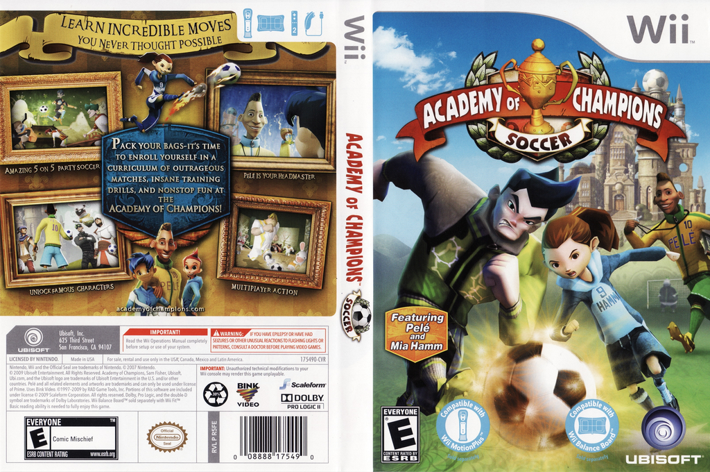 Academy of Champions: Soccer Wii coverfullHQ (R5FE41)
