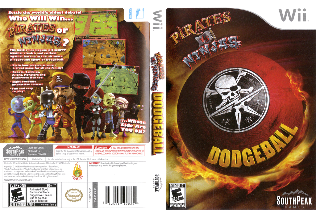 Pirates vs Ninjas Dodgeball Wii coverfullHQ (R5JES5)
