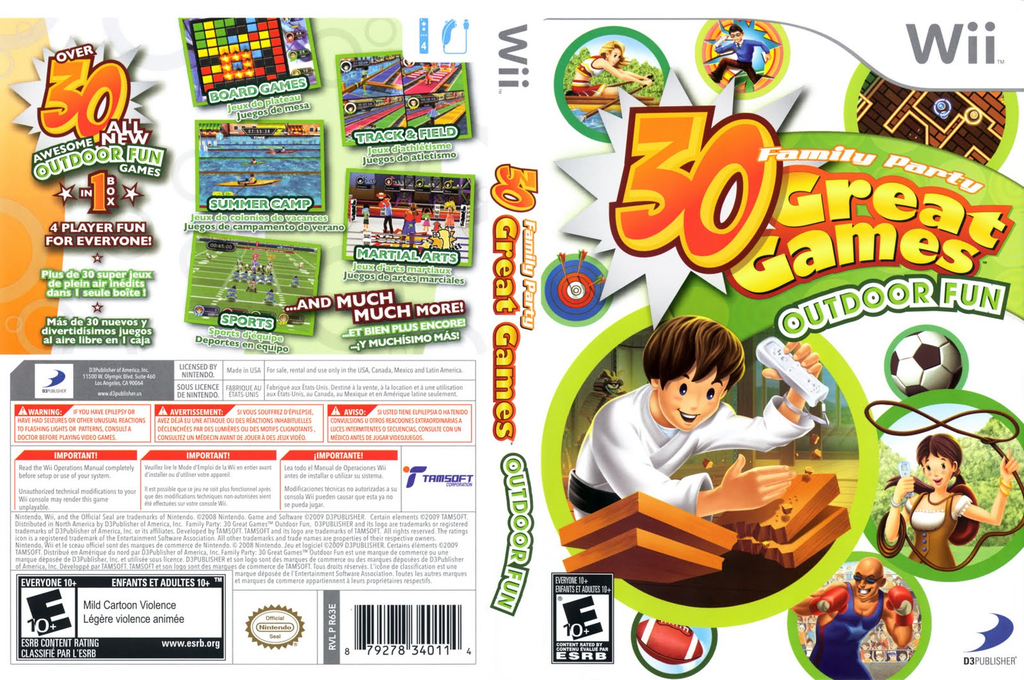 Family Party: 30 Great Games Outdoor Fun Wii coverfullHQ (R63EG9)