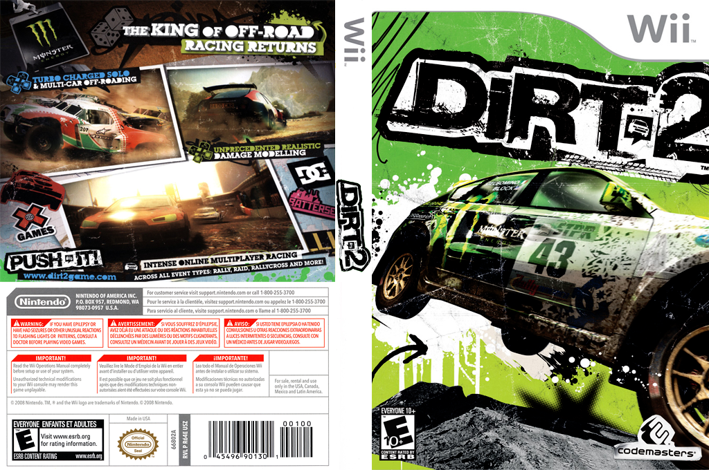 DiRT 2 Wii coverfullHQ (R69E36)