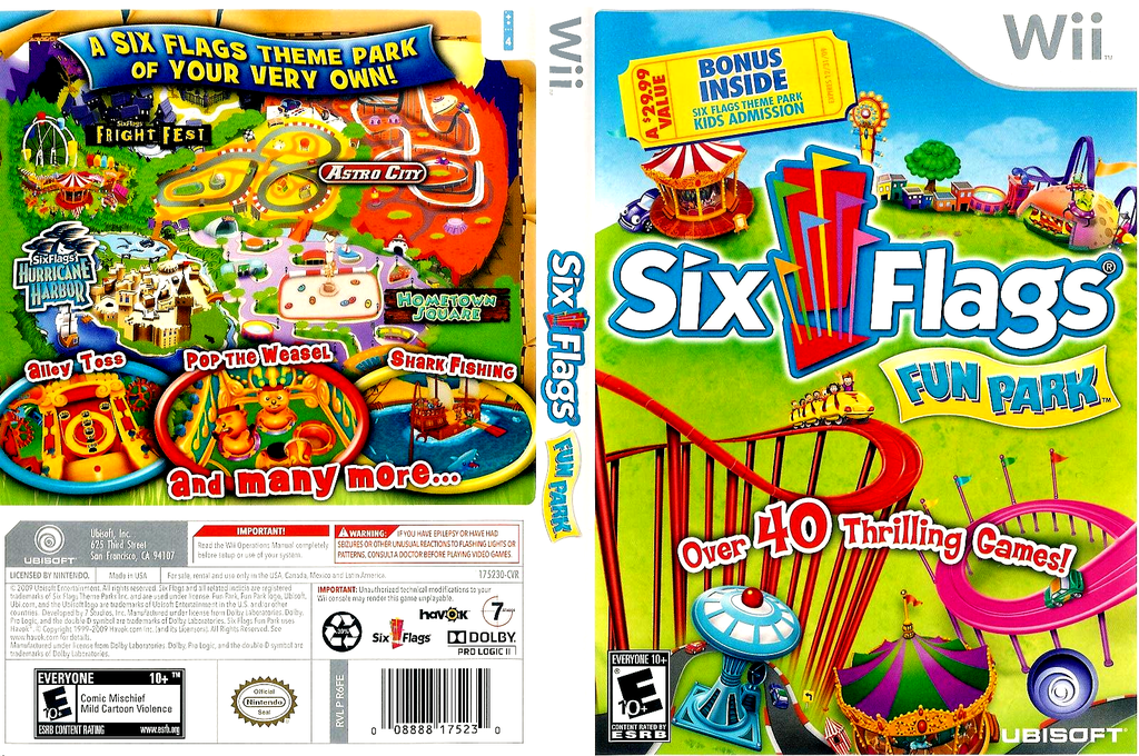 Six Flags Fun Park Wii coverfullHQ (R6FERS)