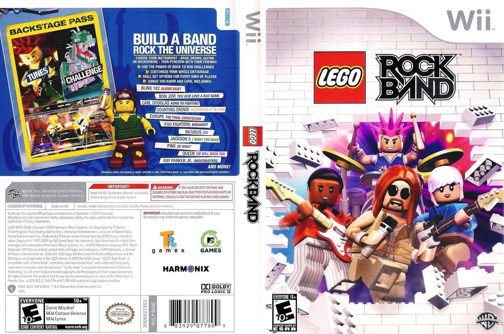LEGO Rock Band Wii coverfullHQ (R6LEWR)