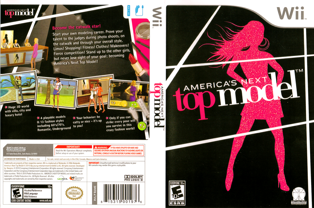 America's Next Top Model Wii coverfullHQ (R6ME5Z)