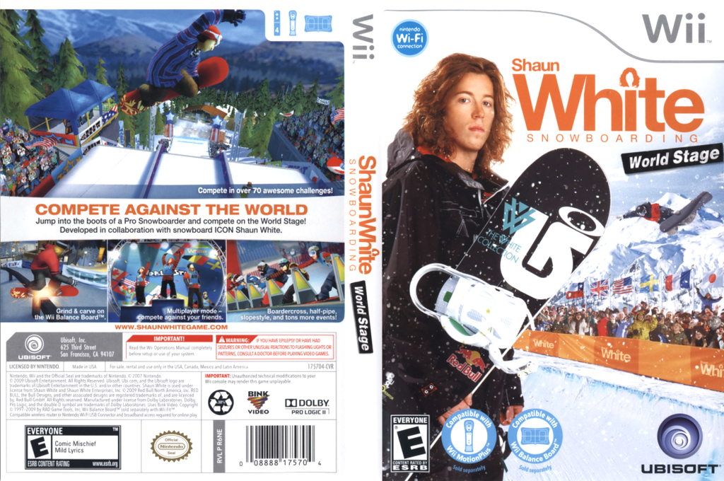 Shaun White Snowboarding: World Stage Wii coverfullHQ (R6NE41)